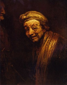 Старият Рембранд, Атопортрет - платно маслени с бои