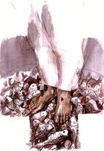 След възкресението, Йоан 21:10,11